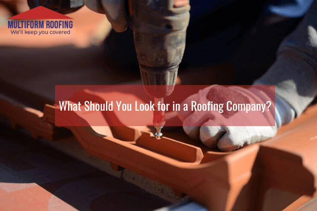 What Should You Look for in a Roofing Company